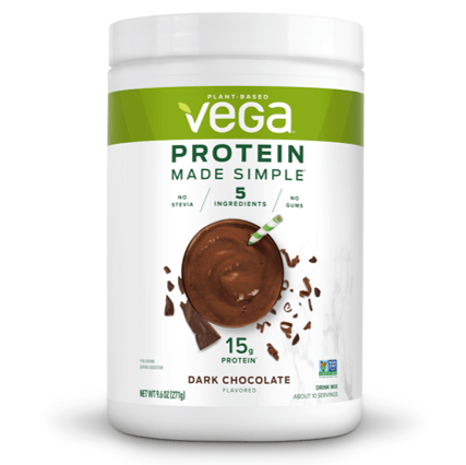 vega protein made simple dark chocolate 10 servings 9 6oz