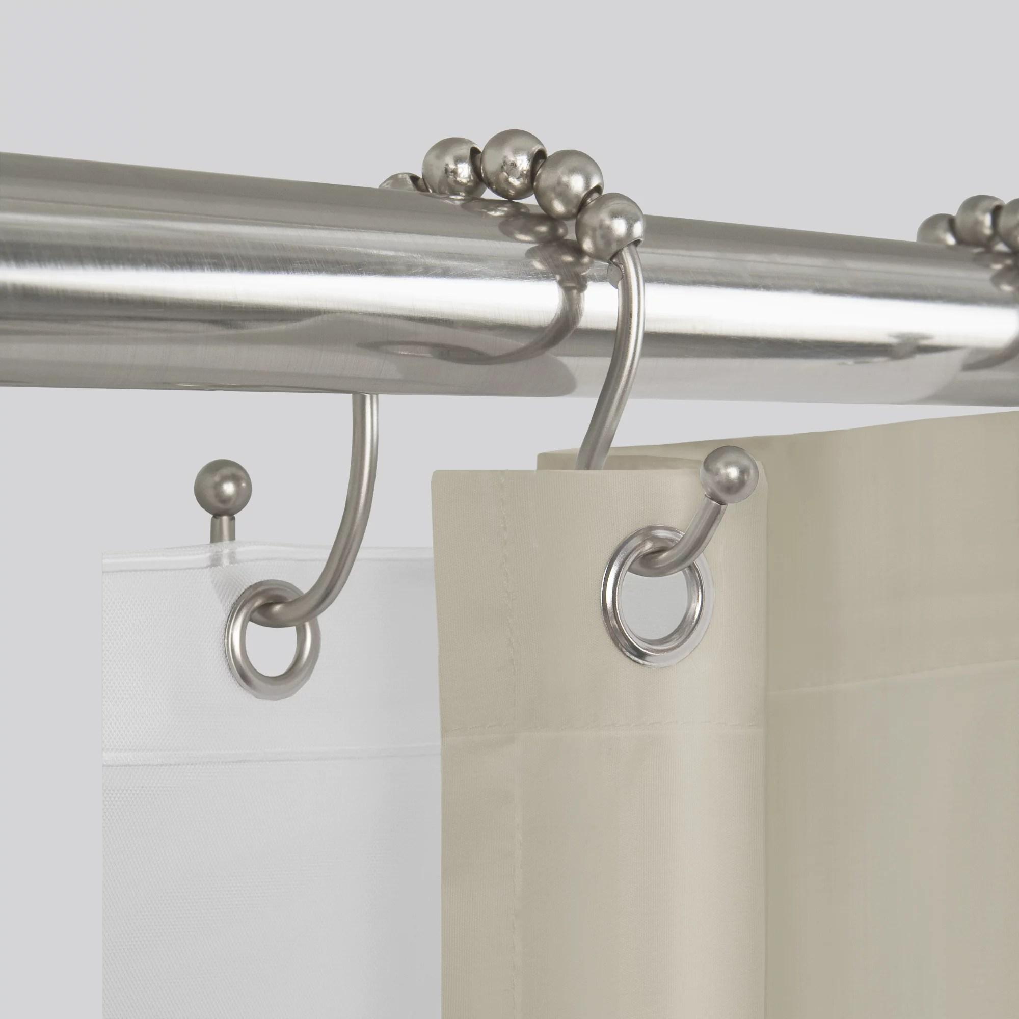 better homes gardens easy glide open double shower hooks 12 piece
