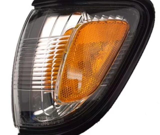 Fits 01 04 Toyota Tacoma Black Corner Light Turn Signal Left