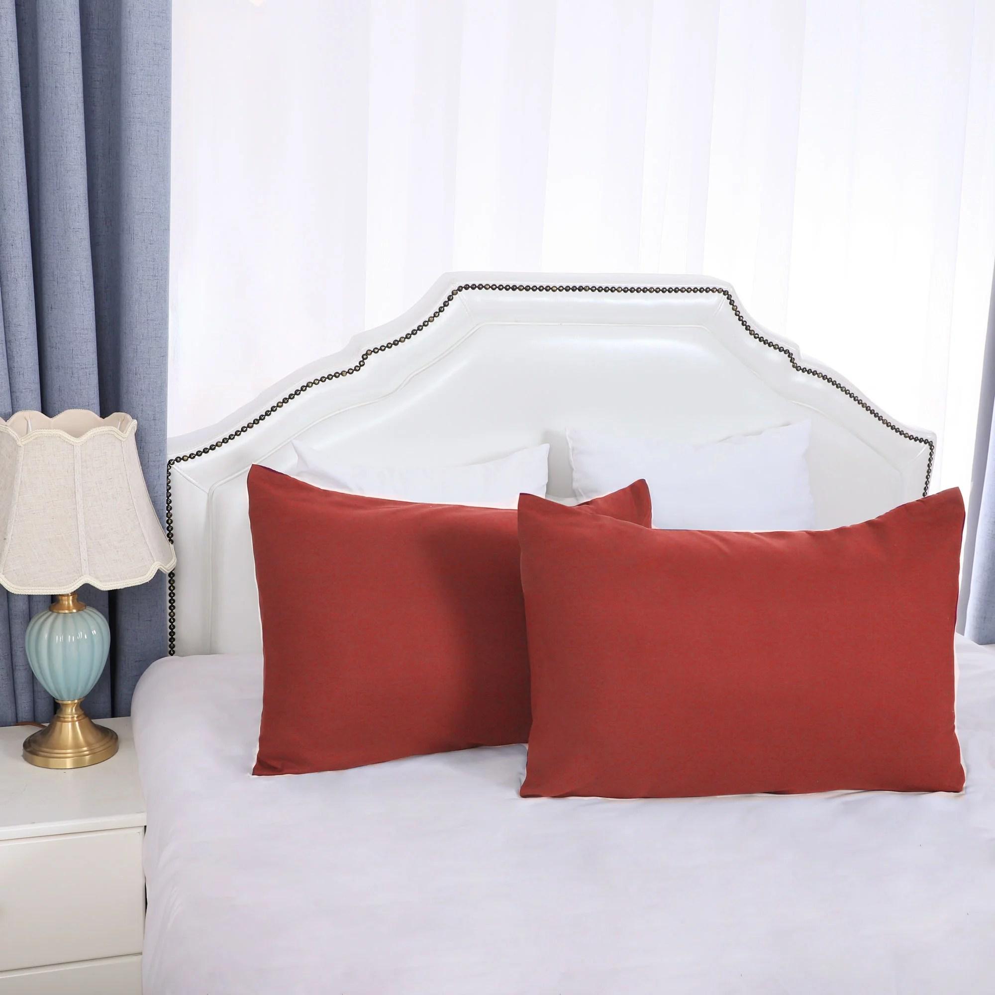 2 pack travel size pillowcases soft 1800 microfiber pillow case with envelope closure orange bedding pillow covers walmart com