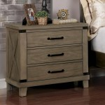 Furniture Of America Abner Farmhouse Nightstand With 3 Drawer Gray Walmart Com Walmart Com