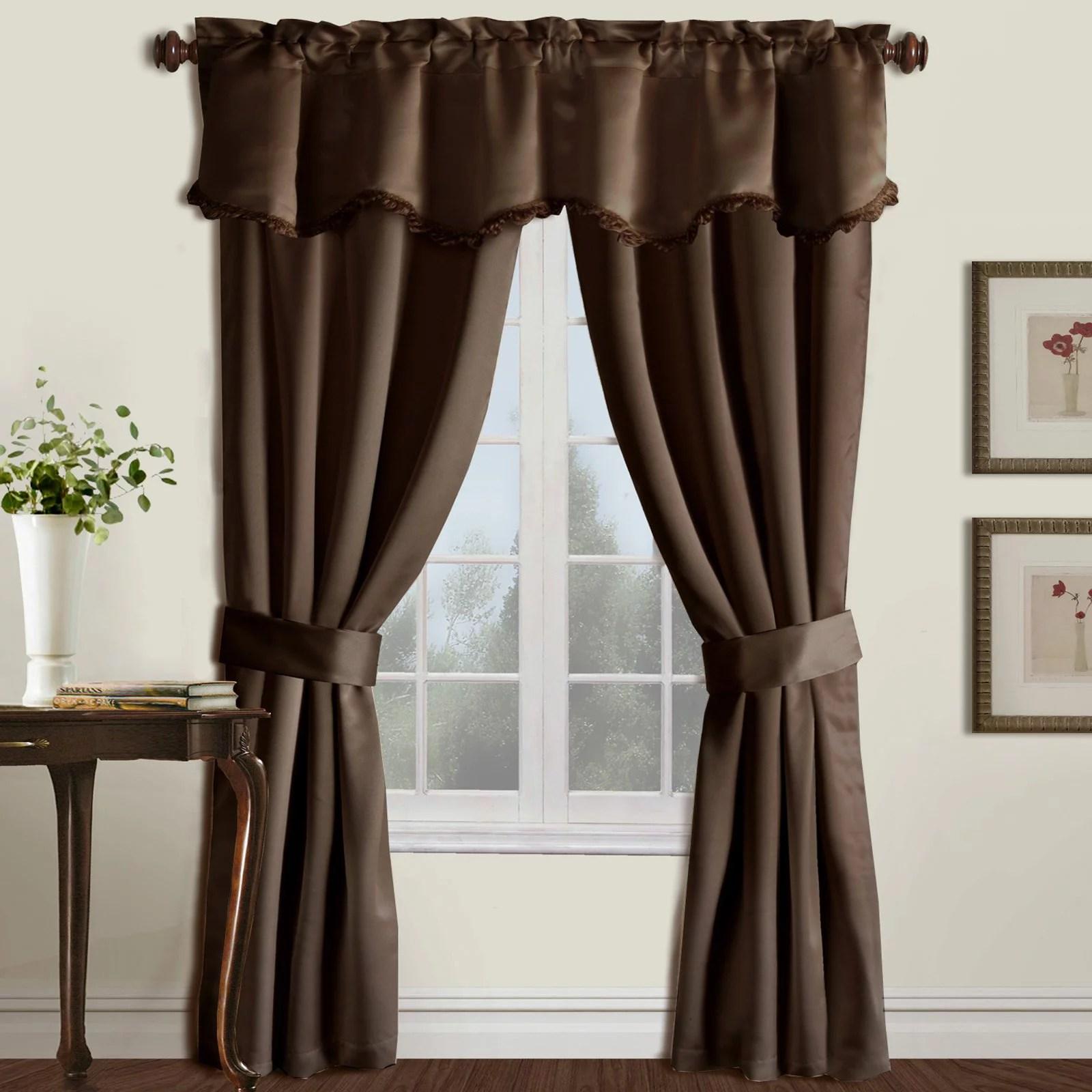 https www walmart com ip burlington 52 x 63 window curtain five piece curtain and valance set burgundy 40127805