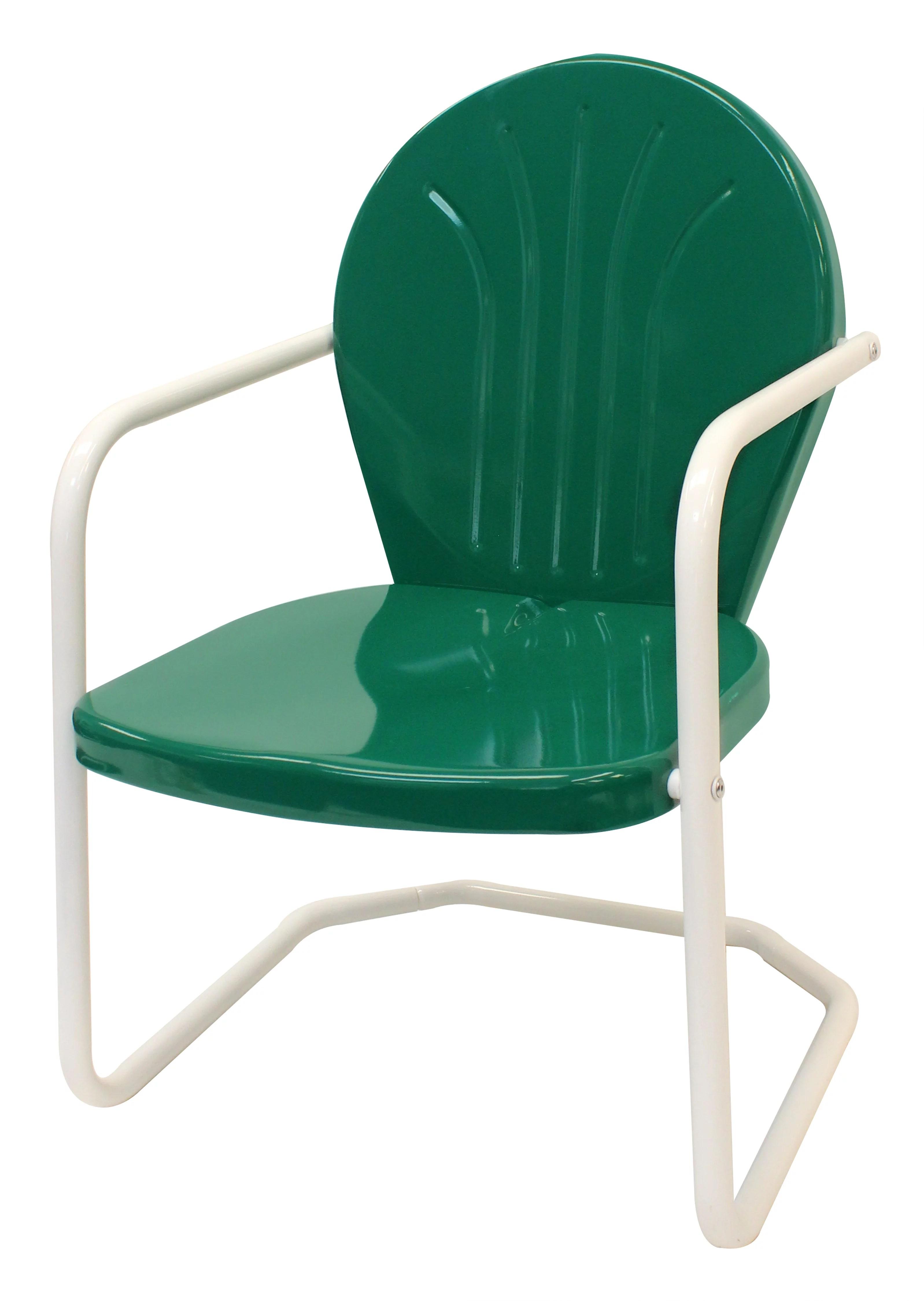 leigh country retro outdoor chair metal dark green walmart com
