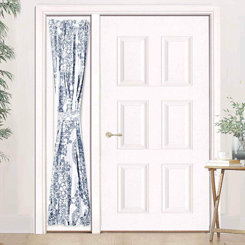driftaway samantha door curtain sidelight curtain thermal rod pocket room darkening privacy front door panel single curtain with bonus adjustable