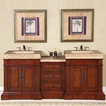 silkroad exclusive stanton 83'' double bathroom vanity set