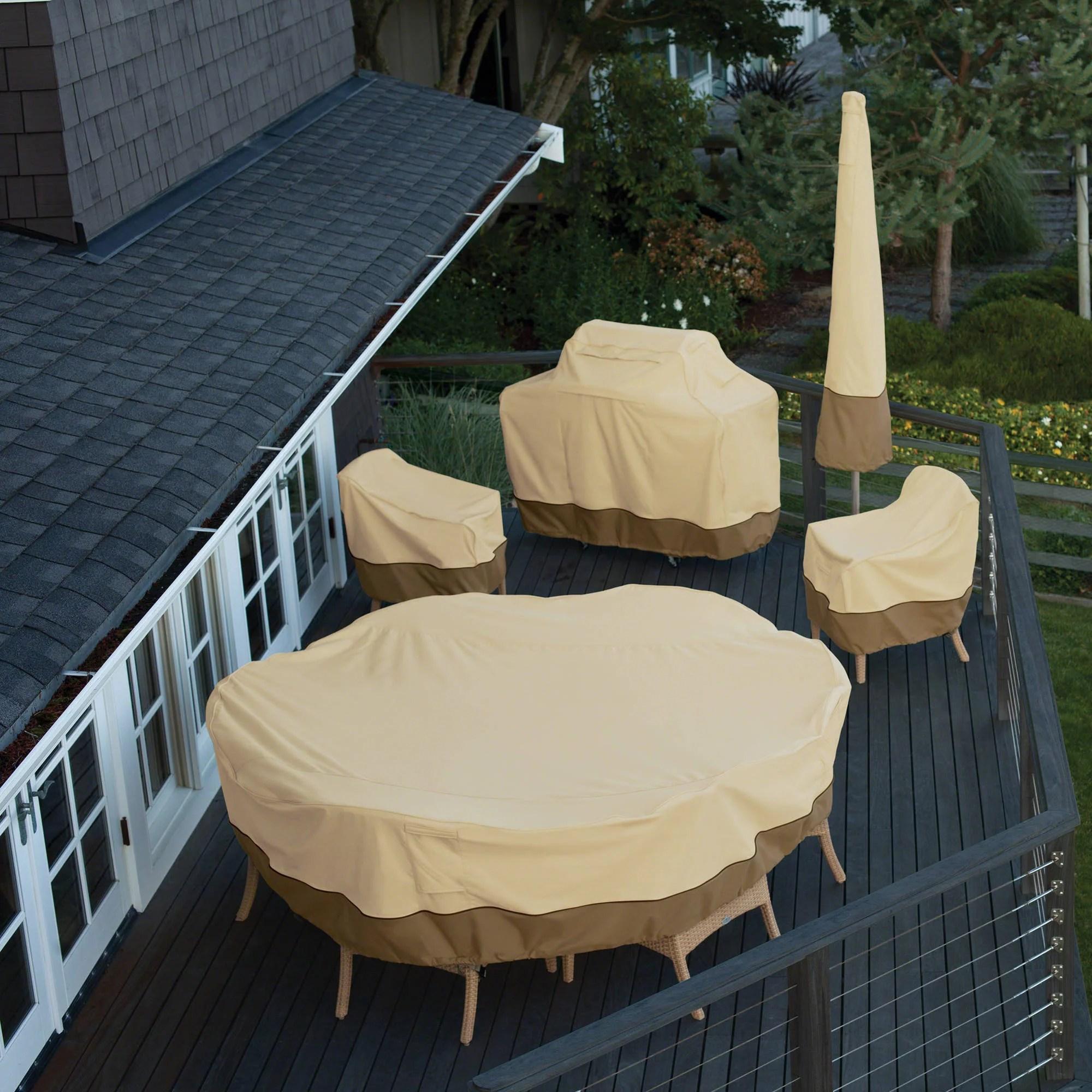 Classic Accessories Veranda Water Resistant 25 5 Inch High Back Patio Chair Cover Walmart Com Walmart Com