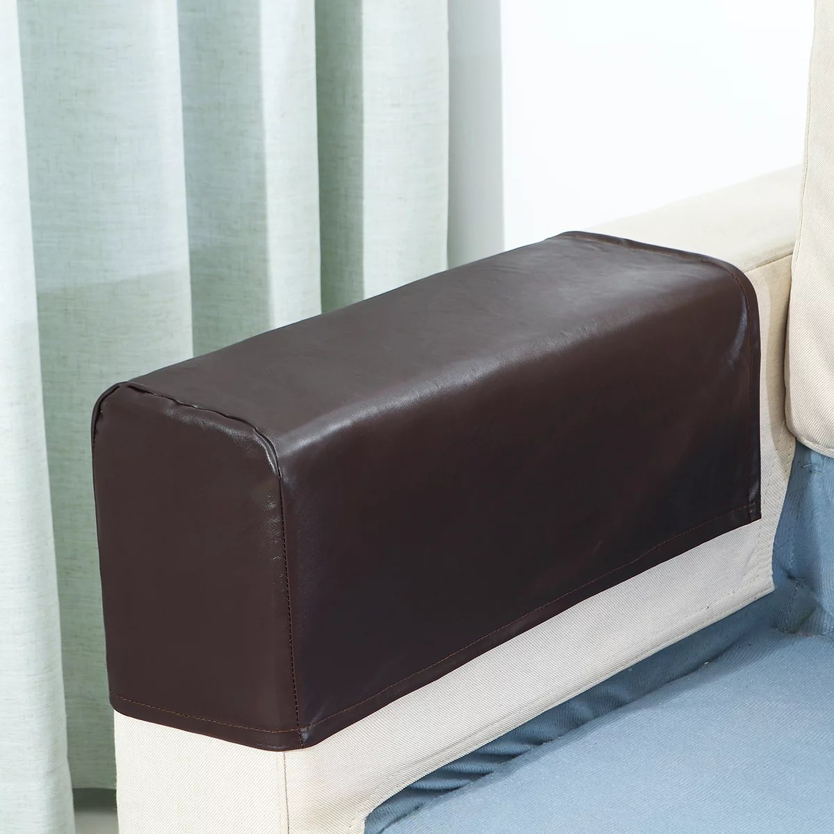 elastic 2pc set pu leather sofa covers waterproof sofa armrest covers for couch chair arm protectors slipcover stretchy coffee walmart com