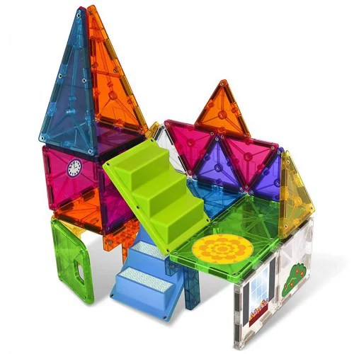 magna tiles 28 piece house set the original award winning magnetic building tiles creativity and educational stem approved