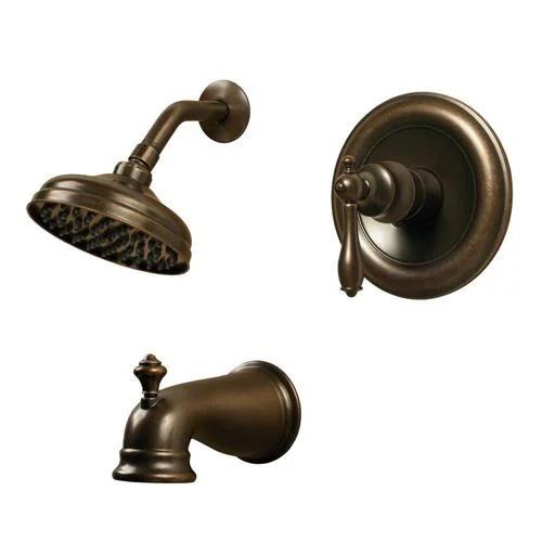 pegasus 204744250 estates watersense 1 handle tub and shower faucet in heritage
