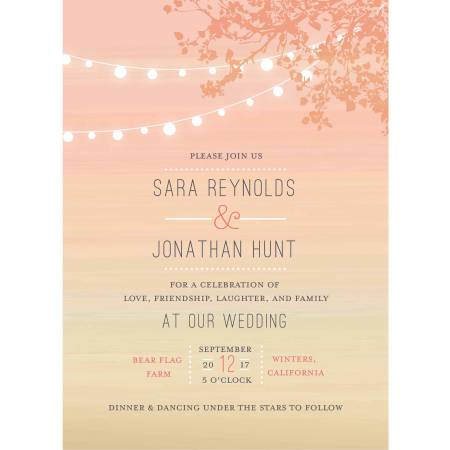 Wedding Glow Standard Invitation