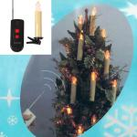 Set Of 10 Led Battery Operated Remote Control Magnetic Candle Christmas Lights Walmart Com Walmart Com