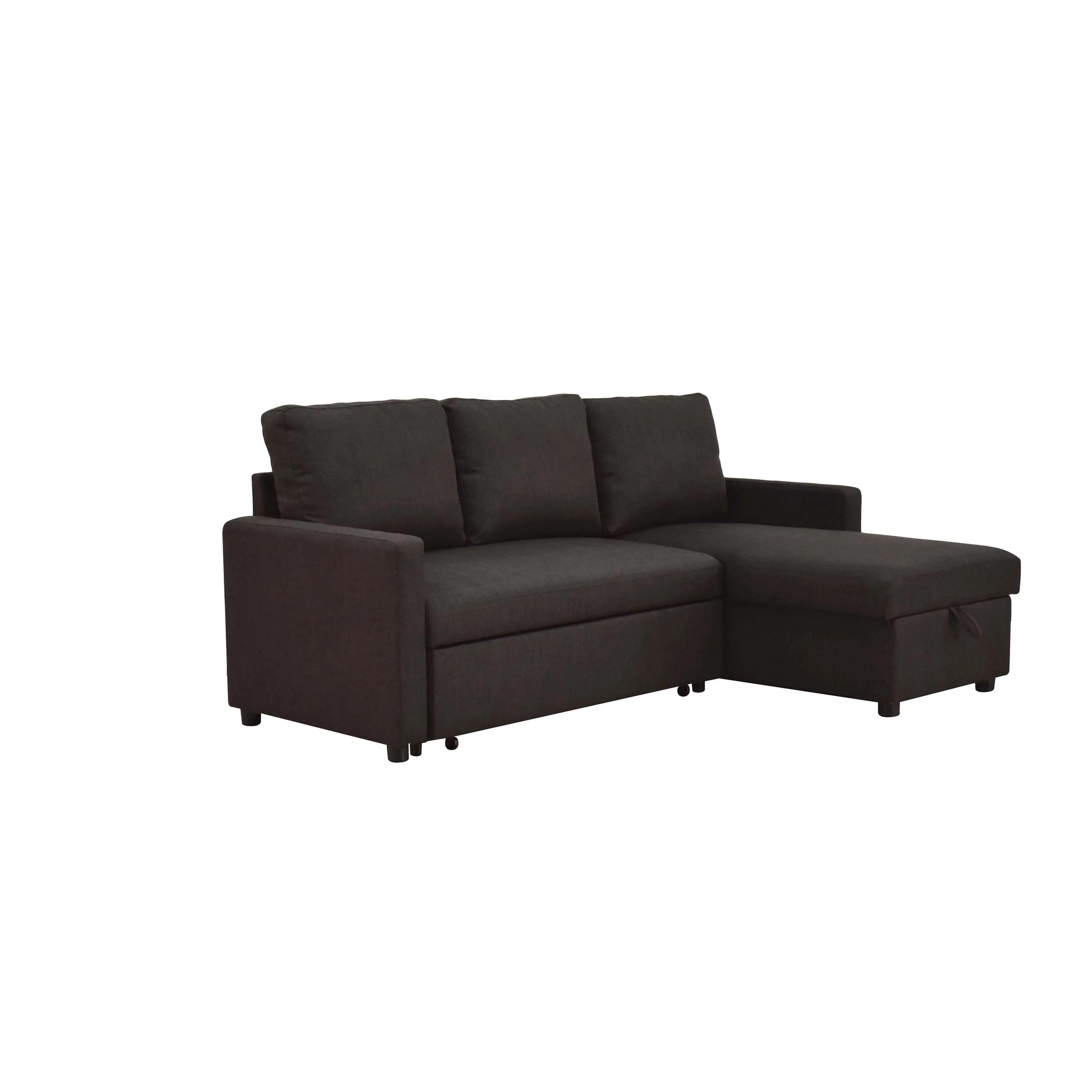 linen sectional sofa with sleeper and storage
