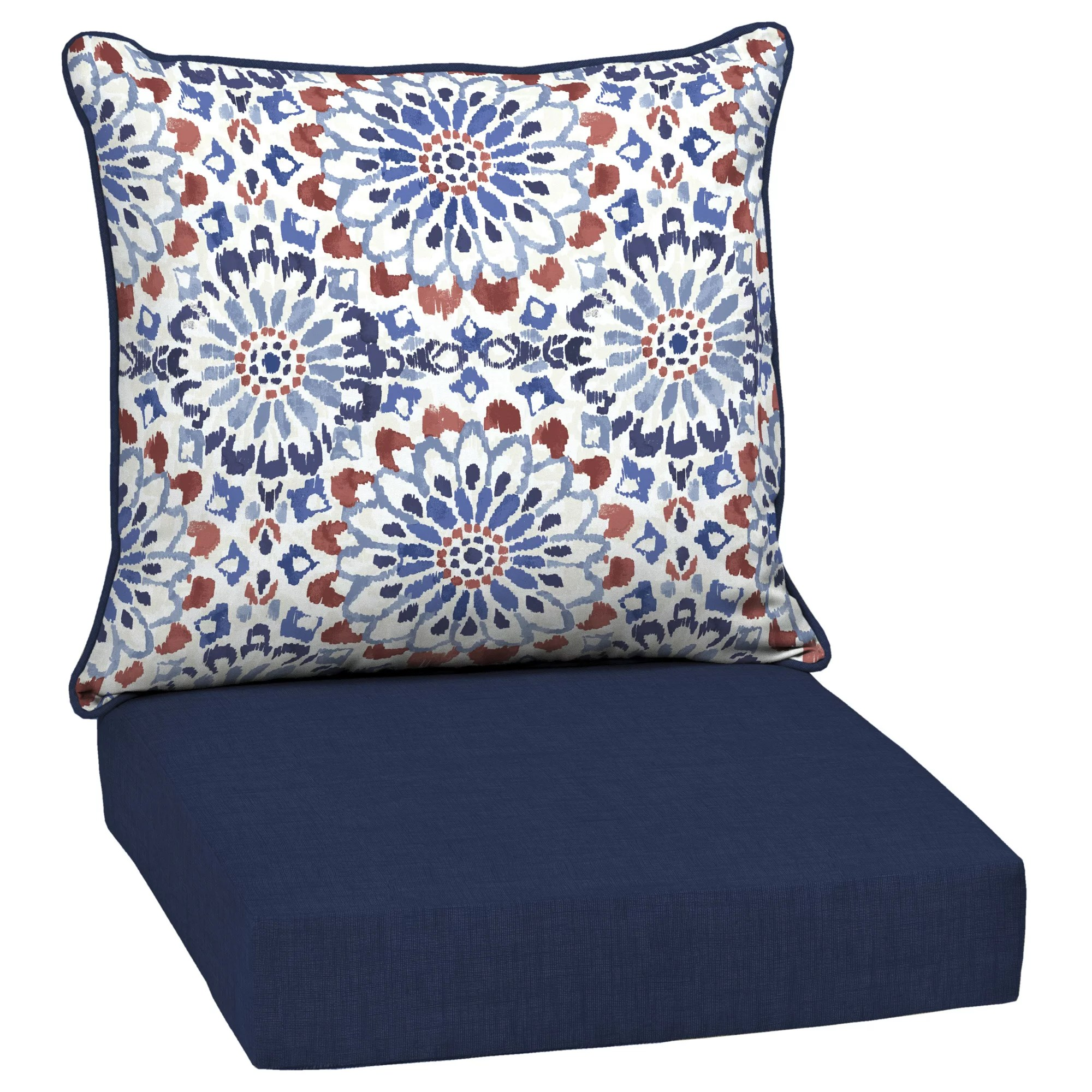 arden selections clark 24 x 24 in outdoor deep seat cushion set
