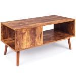 Best Choice Products Wooden Mid Century Modern Retro Coffee Table Indoor Furniture W Open Storage Shelf Walmart Com Walmart Com