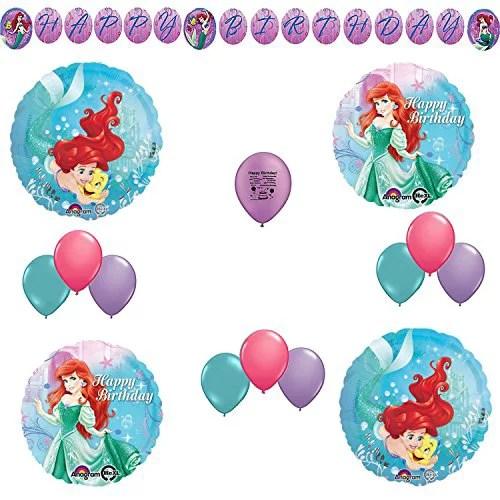 Little Mermaid Birthday Party Balloon Room Decoration Kit Walmart Com Walmart Com