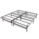Best Choice Products Platform Metal Bed Frame Foldable No Box Spring Needed Mattress Foundation King Black Walmart Com Walmart Com