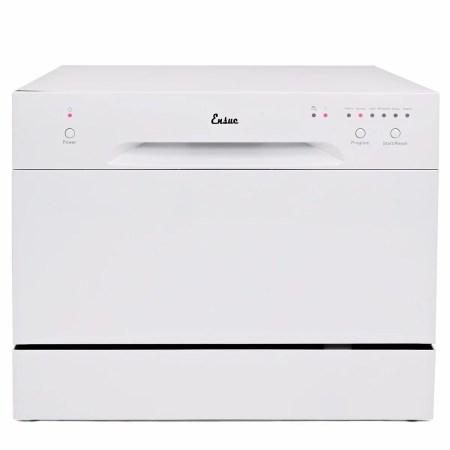 Ensue Countertop Dishwasher Energy Star Certified 6-Place 6-Program Setting, White