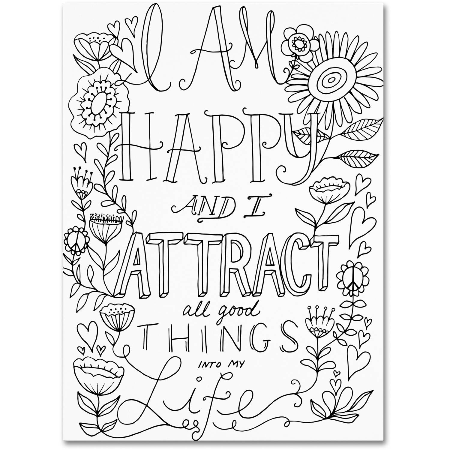 Trademark Fine Art I Attract Good Things Canvas Art By