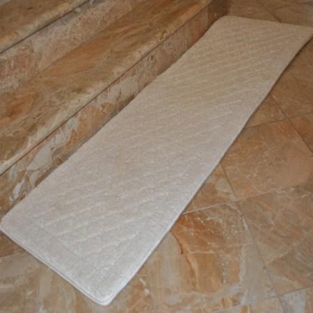 "fashion street extra-long memory foam bath rug, 1'8"" x 5'4"