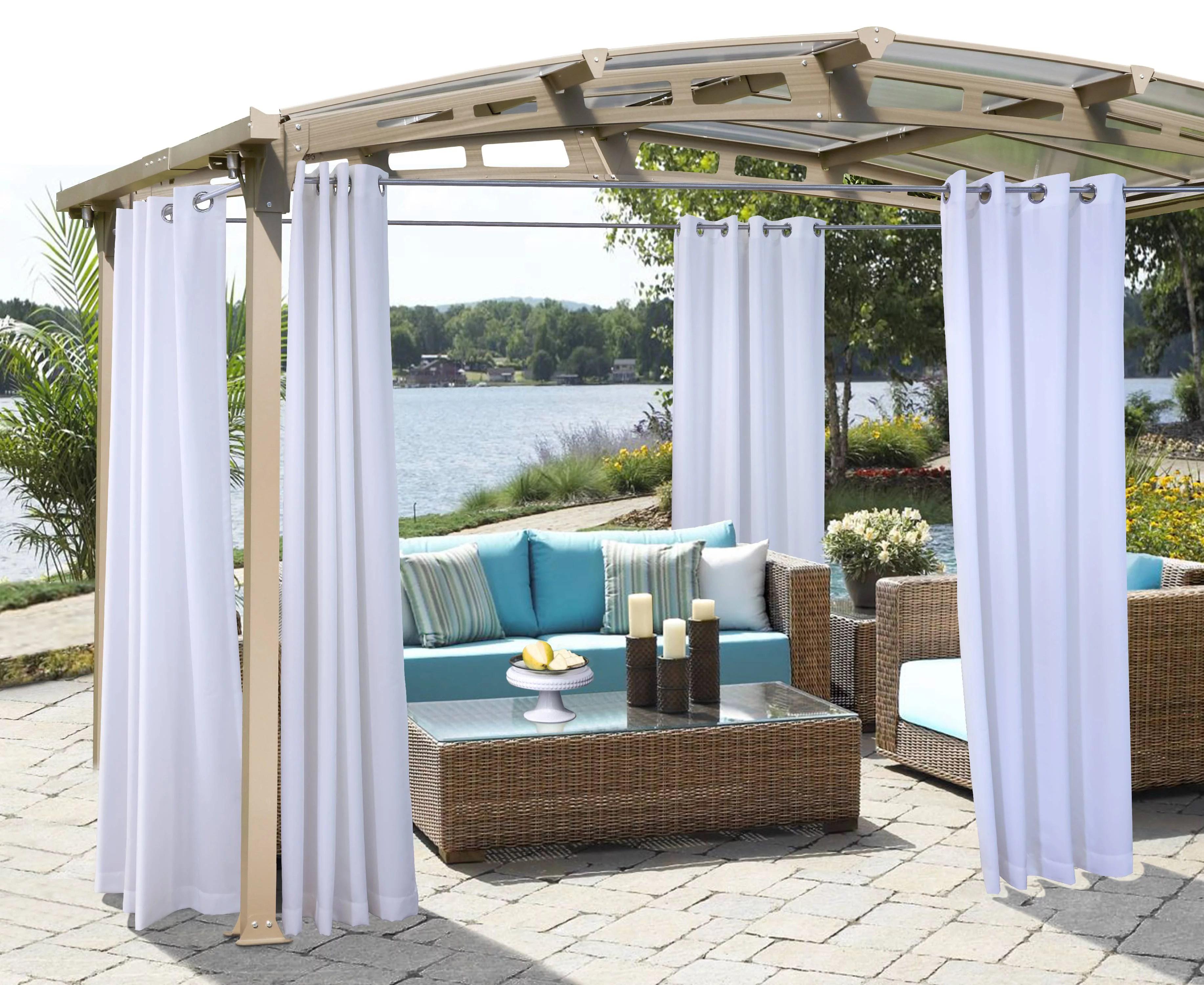gazebo solid indoor outdoor grommet panel