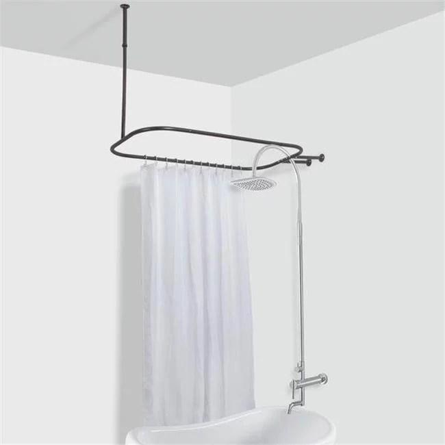 utopia alley tringle de douche hoop pour baignoire sur pattes bronze