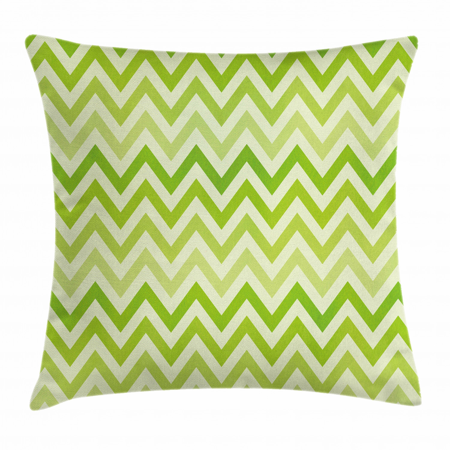 lime green throw pillow cushion cover chevron traditional zig zag pattern with symmetric lines tribal modern pattern decorative square accent pillow