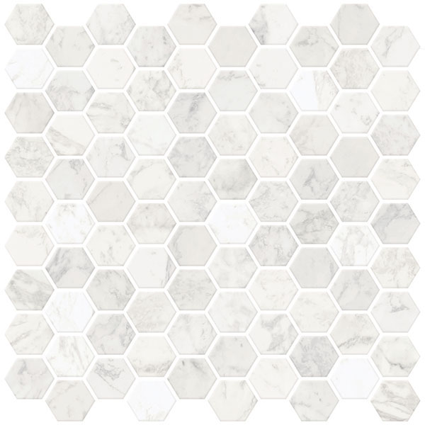 inhome hexagon marble 10 in x 10 in peel and stick resin backsplash tiles 4 pack walmart com