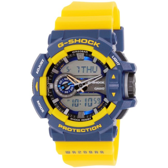 Casio Men's G-Shock GA400-9B Blue Plastic Quartz Fashion Watch