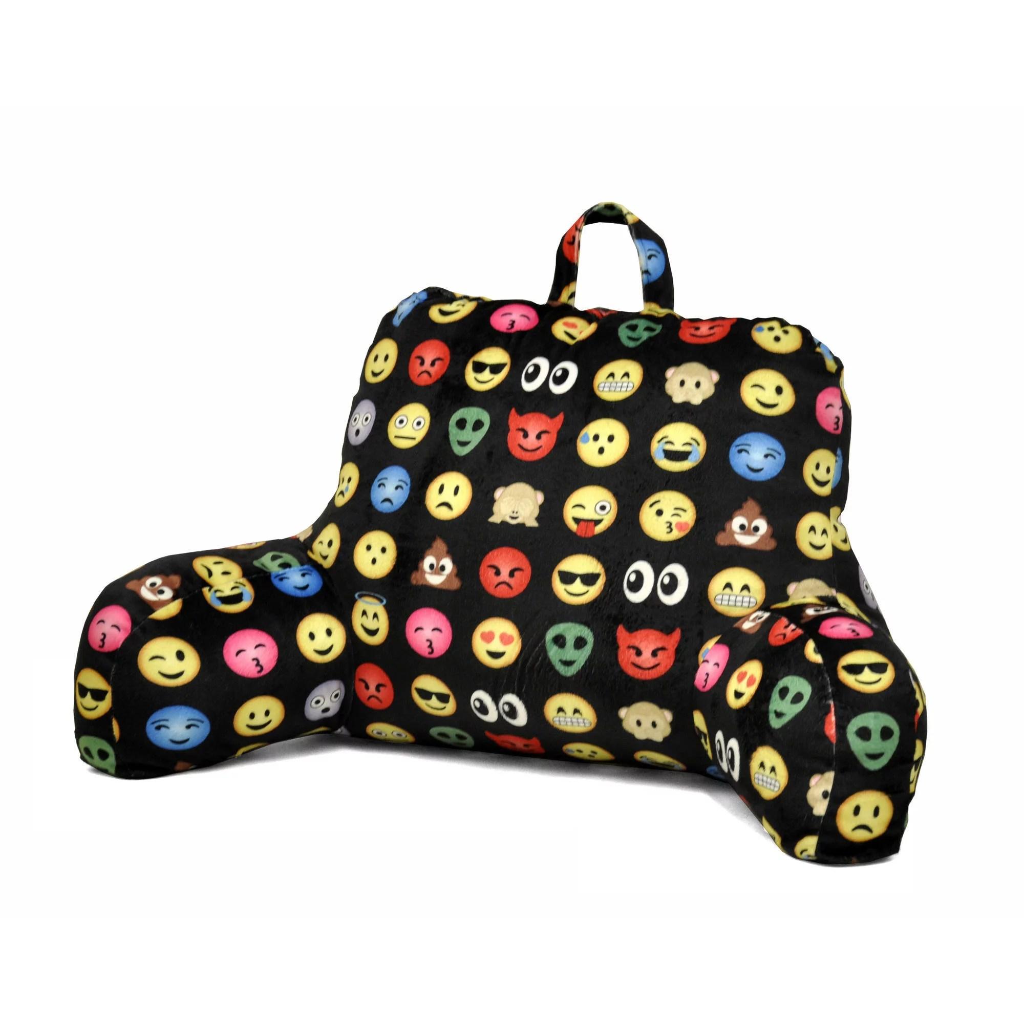 emoji pals all over backrest pillow walmart com