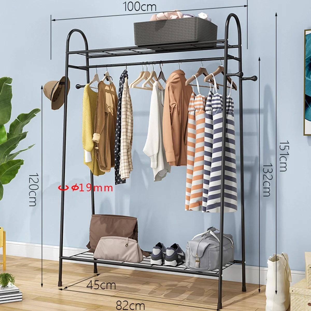 novashion clothes rack closet storage organizer garment hanger dry shelf heavy duty modern farmhouse slim garment rack white