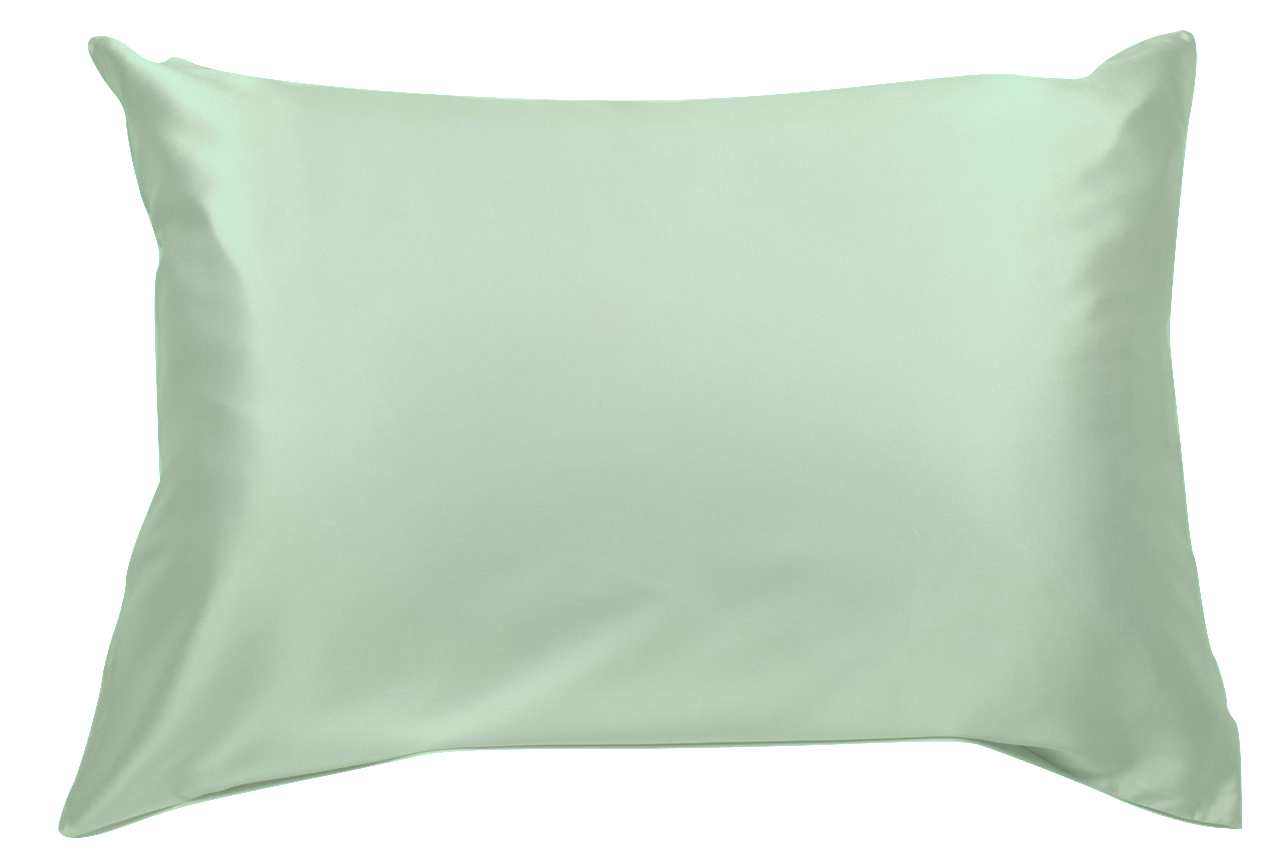 100 silk pillowcase for hair with envelope enclosure 25 momme mulberry silk with charmeuse weave mint green queen