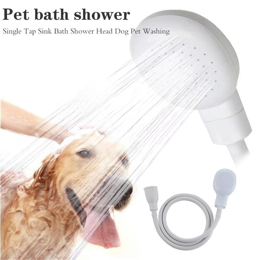 portable pet faucet sprayer sink spray hose shampoo sprayer faucet shower head with slip on spout bath and shampoo spray faucet to shower