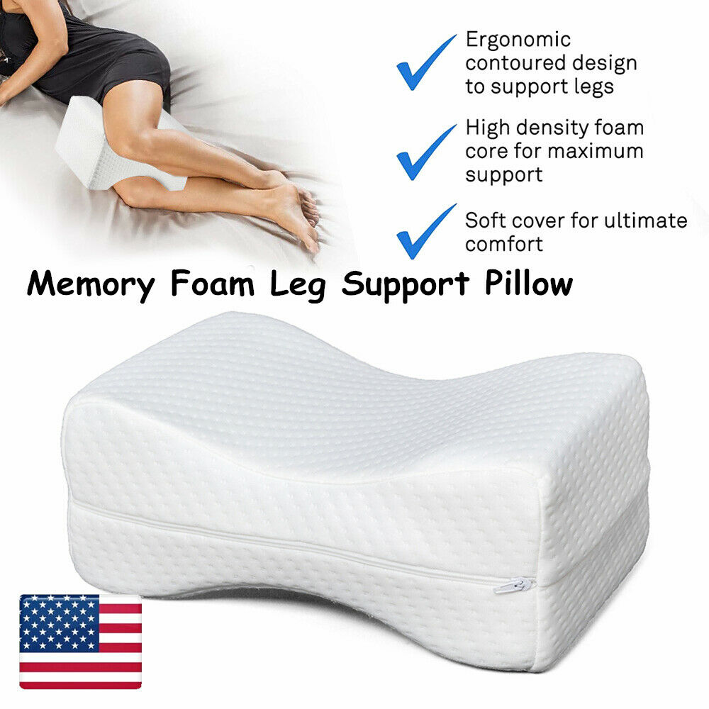 new arrival knee leg pillow for side sleepers memory foam bed sleep cushion hip pain relief