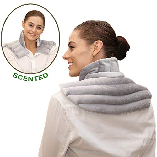 heating pad solutions lavender heating pad for neck and shoulders large microwave heating pad for sore neck shoulder aches and upper back pain