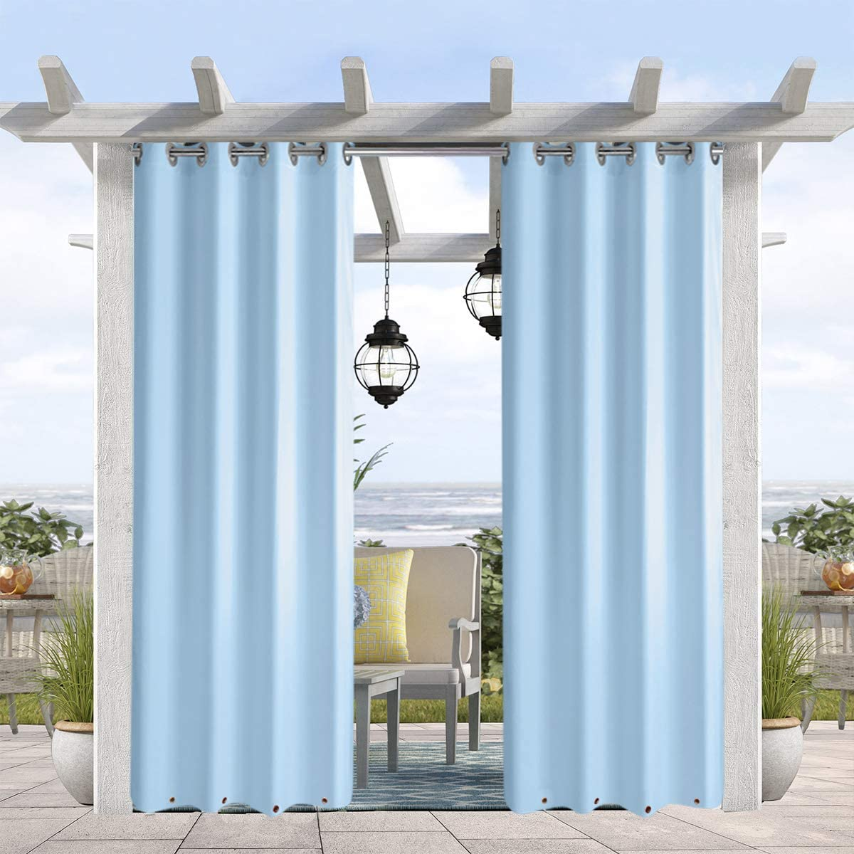 pro space 8 panels indoor outdoor curtains grommet curtain on top and bottom 50 x 84