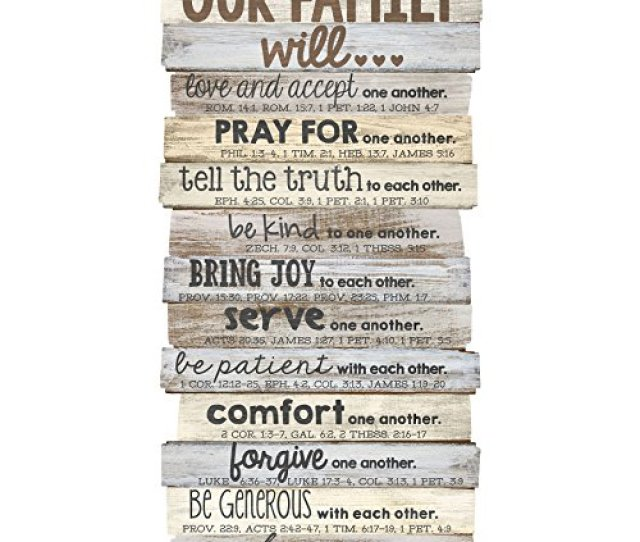 Lighthouse Christian Products Our Family Will Medium Wall Decor  X 16