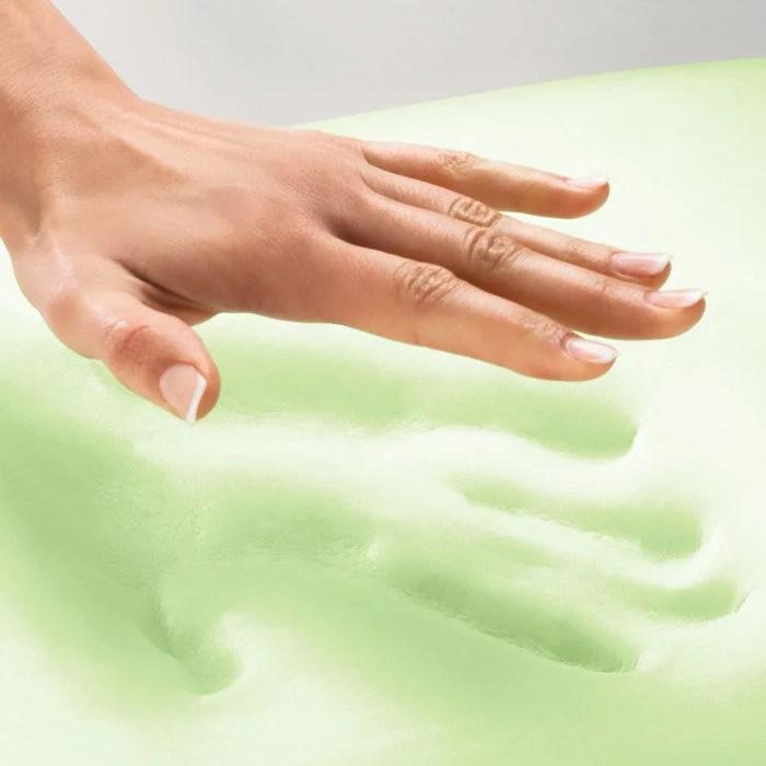 brookstone biosense memory foam classic pillow with better than down