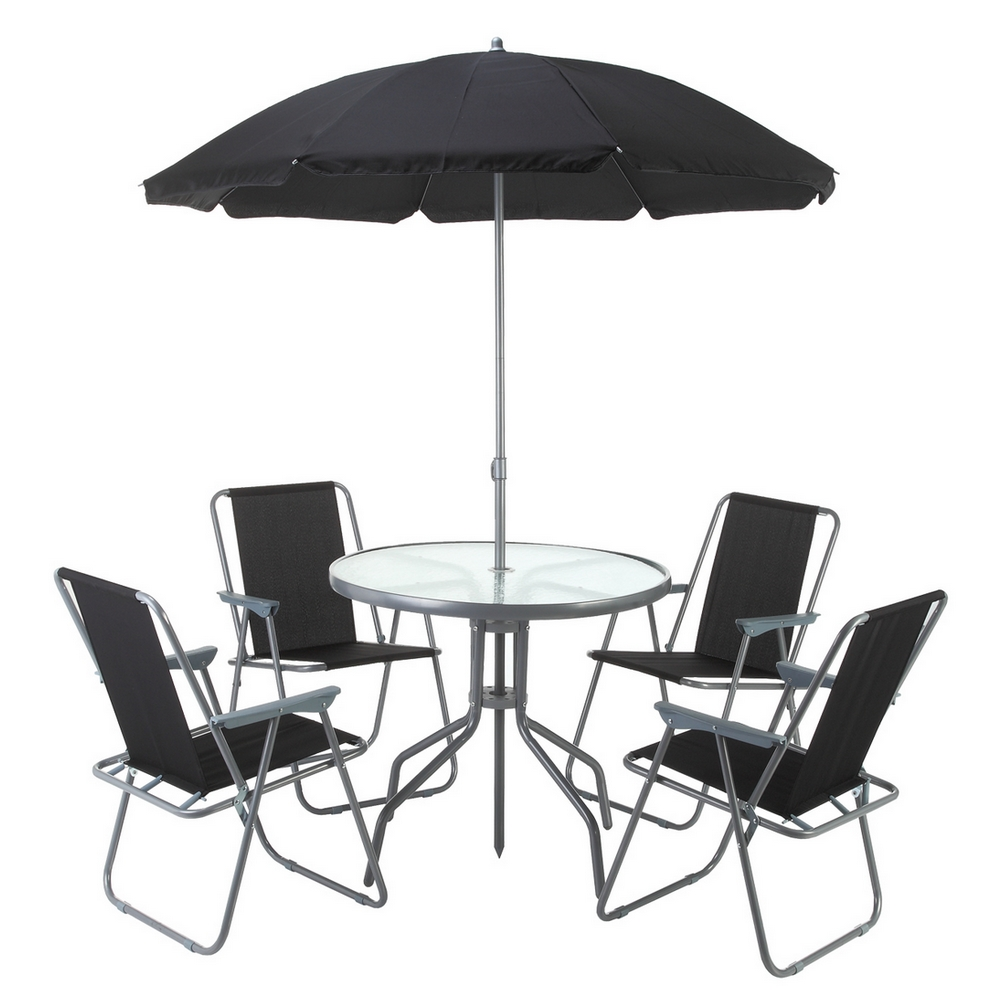 palm springs outdoor dining set with table 4 chairs and umbrella parasol