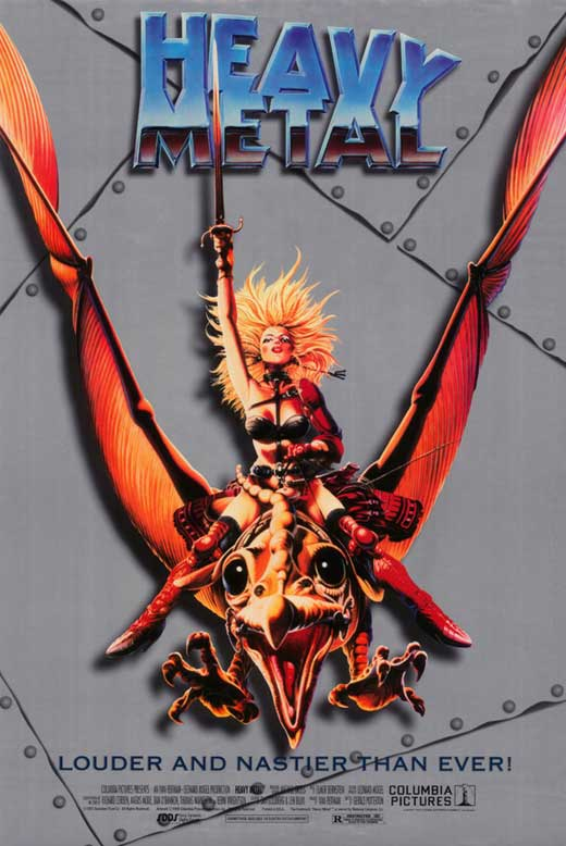 heavy metal movie poster 11 x 17 style a