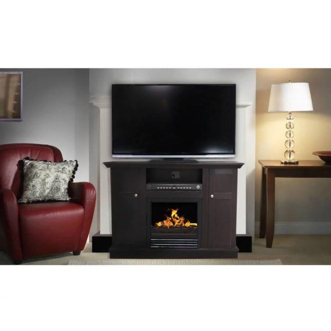 Deacute Cor Flame Cameron 66 Media Fireplace For Tvs Up To 70 Dark Chocolate Com