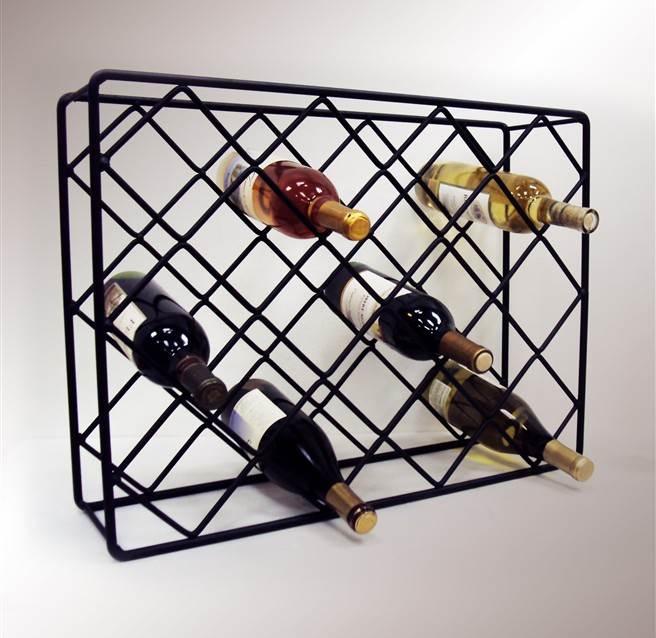 rectangular table top wine rack