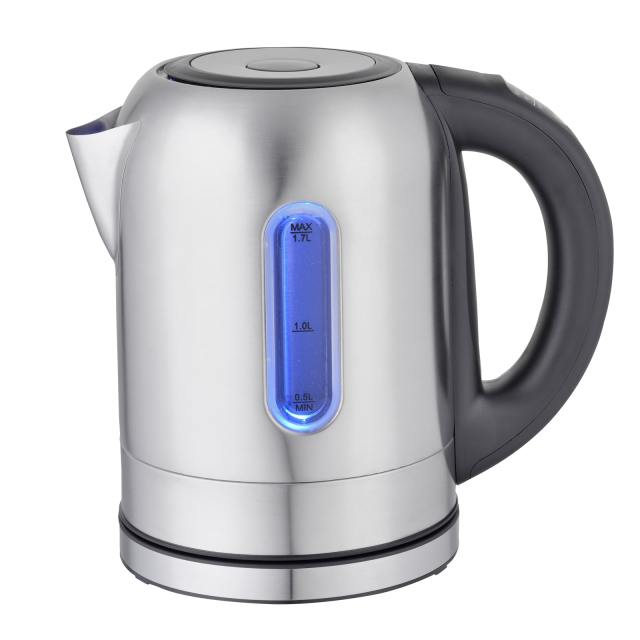 MegaChef 1.7Lt. Stainless Steel Electric Tea Kettle With 5 Preset Temps