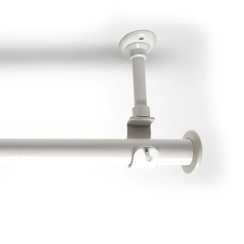 roomdividersnow 56in 108in hanging curtain rod with brackets white