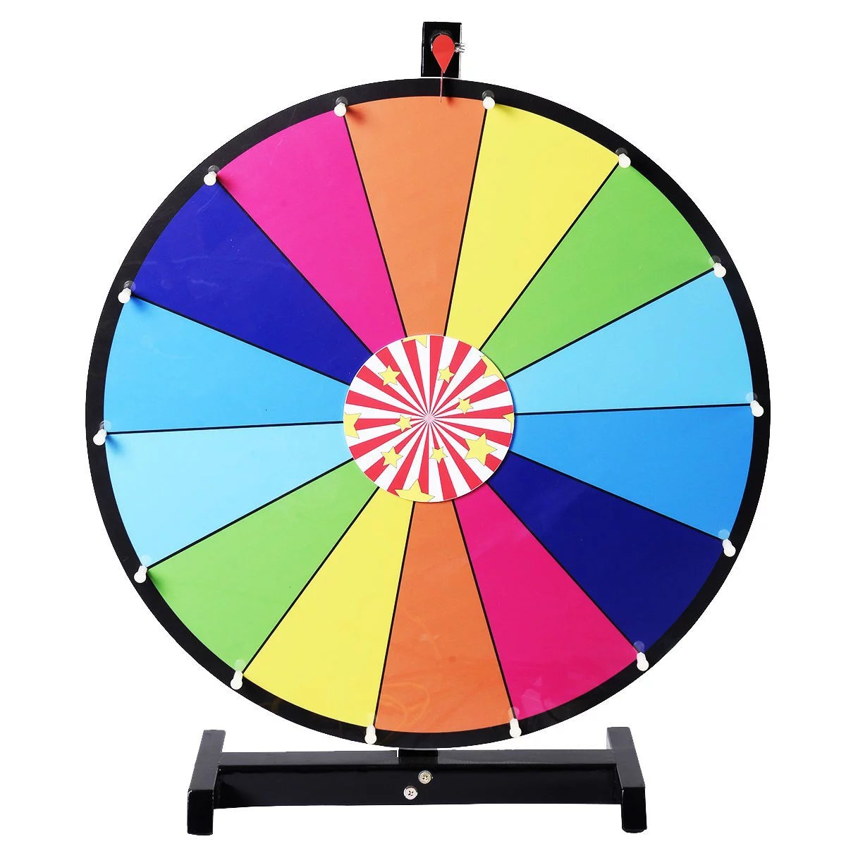 New Editable Dry Erase 24 Color Prize Wheel Of Fortune