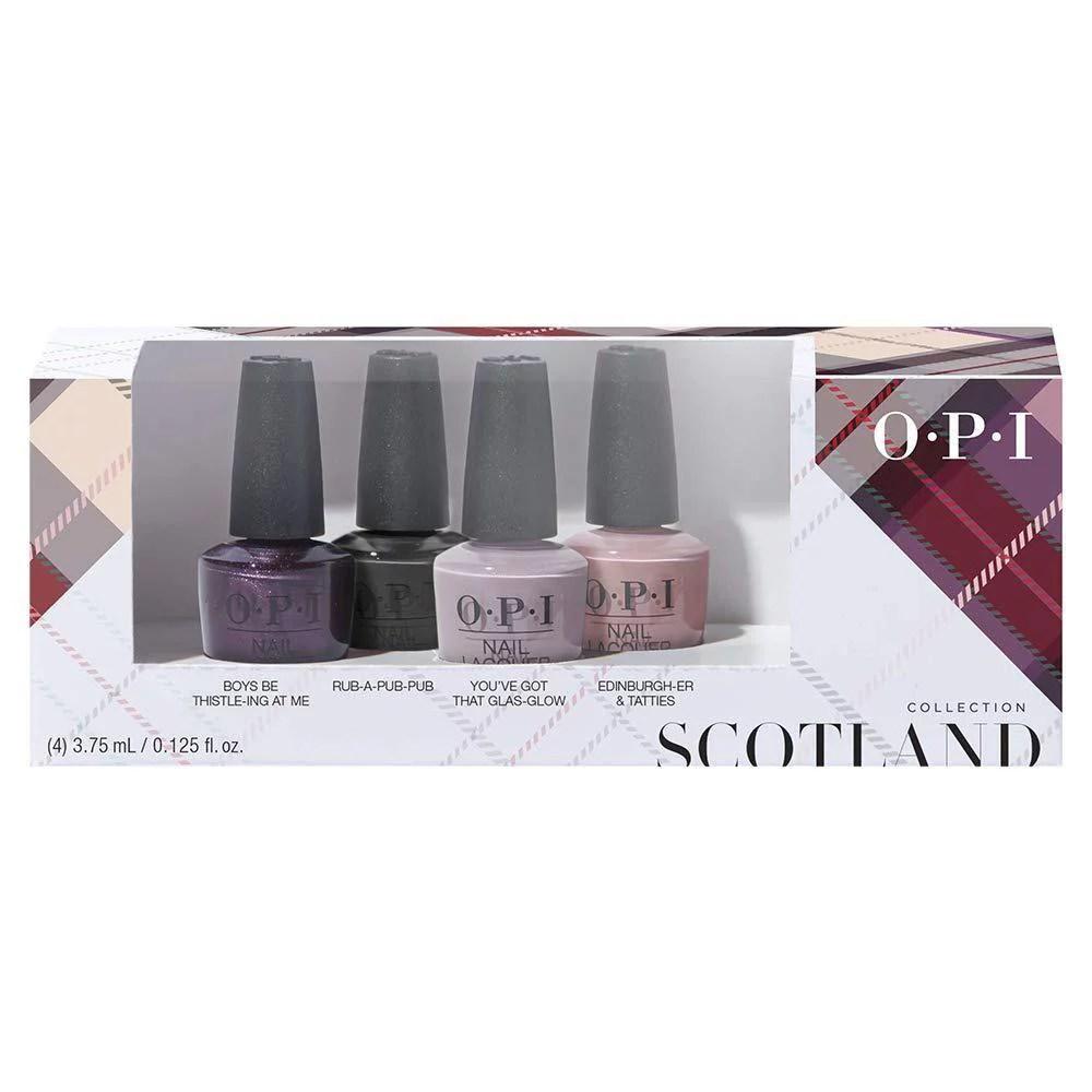 ( Value) OPI Mini Nail Polish Set, Scotland Collection Fall 2019, 4 x 0.125 Fl Oz