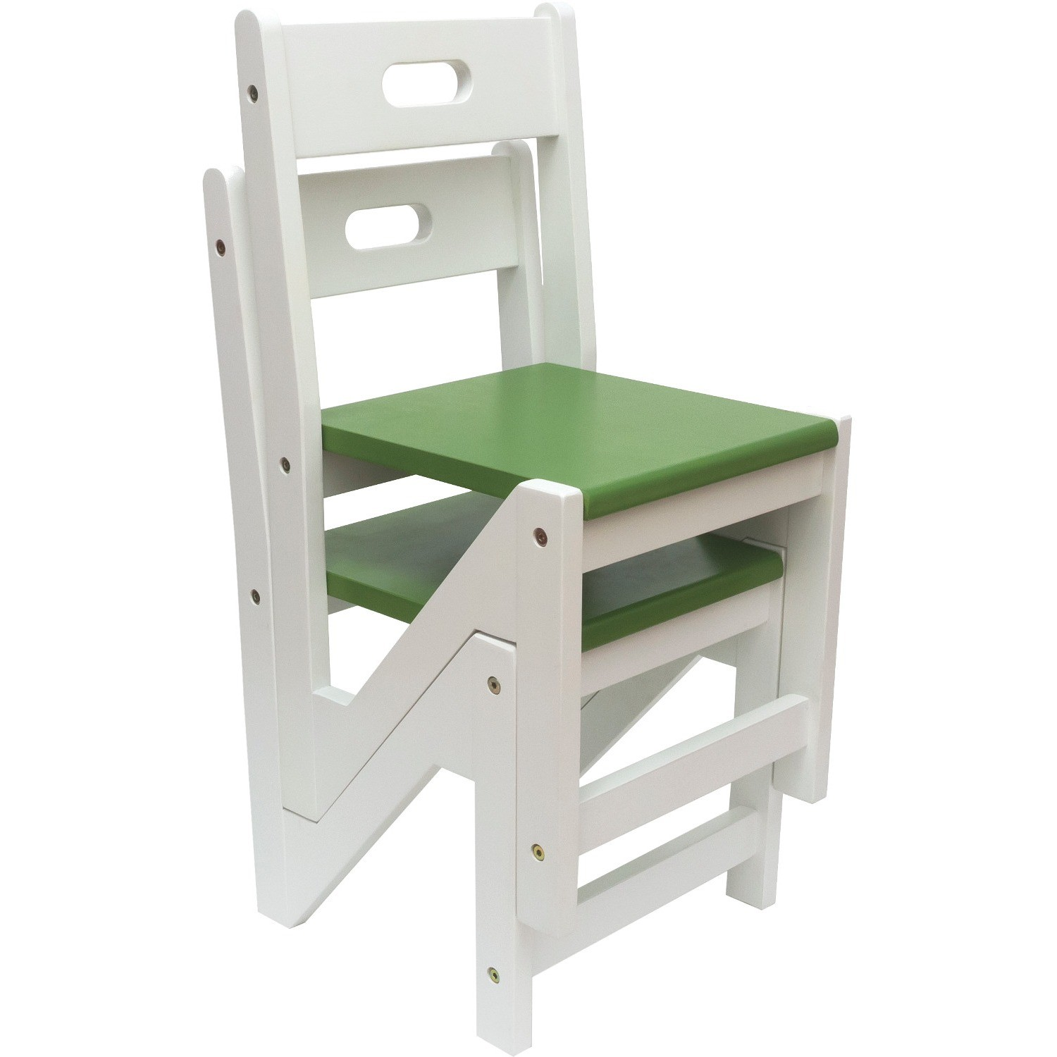 Lipper Kids Zigzag Stacking Chairs Set Of 2 Green
