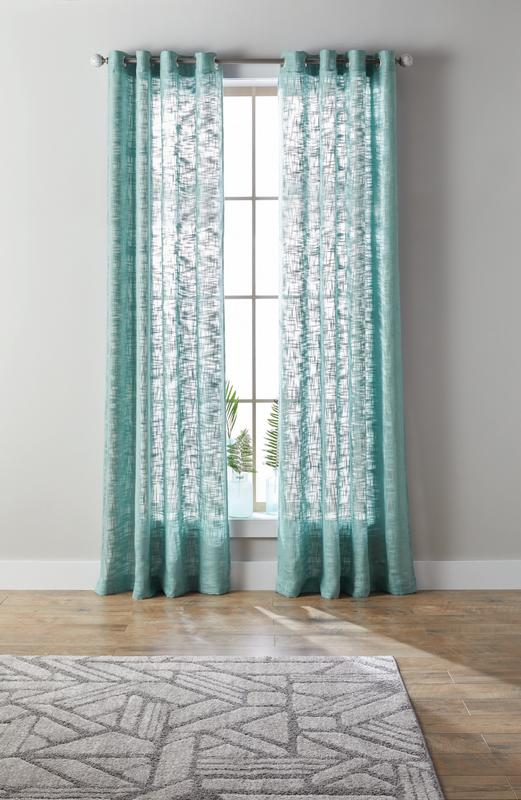 better homes gardens slub sheer single window curtain panel