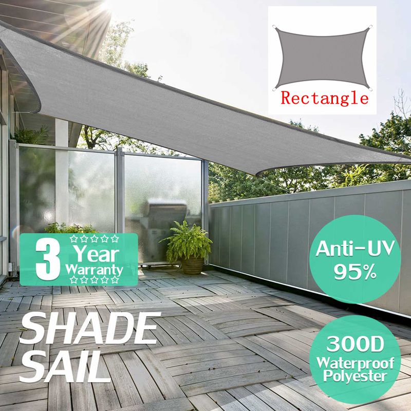 sun shade sails canopy rectangle square waterproof canopy patio cover 300d shade sail uv block for patio garden outdoor facility and activities for