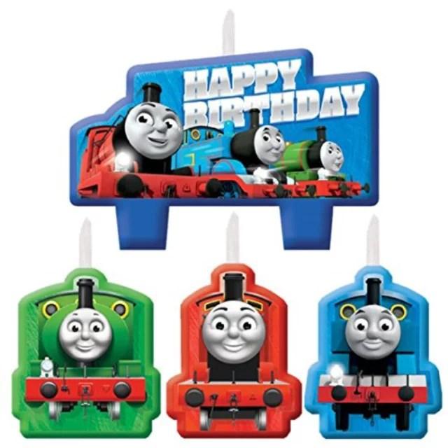 Thomas The Train Tank Engine Thomas And Friends Kids Birthday Party Candle Set Walmart Com Walmart Com