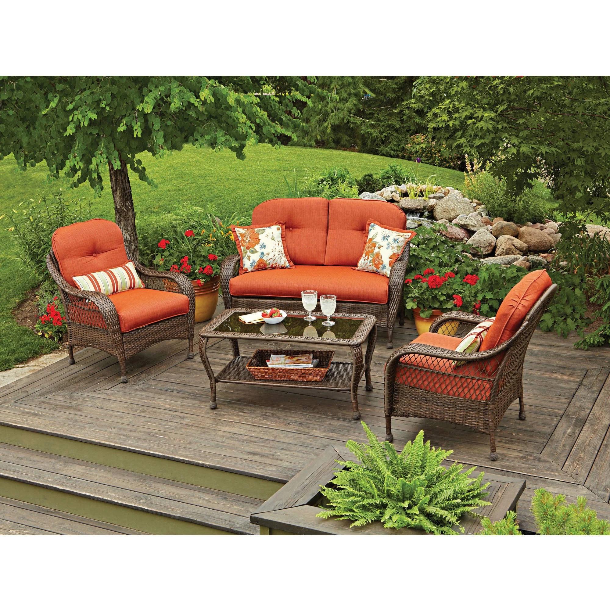 Better Homes And Gardens Azalea Ridge 4 Piece Patio - Walmart Outdoor Patio Furniture